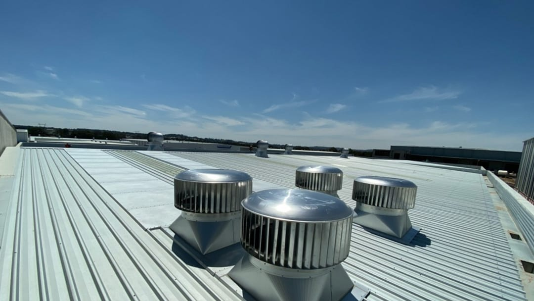 commercial roof vent installation pan civil