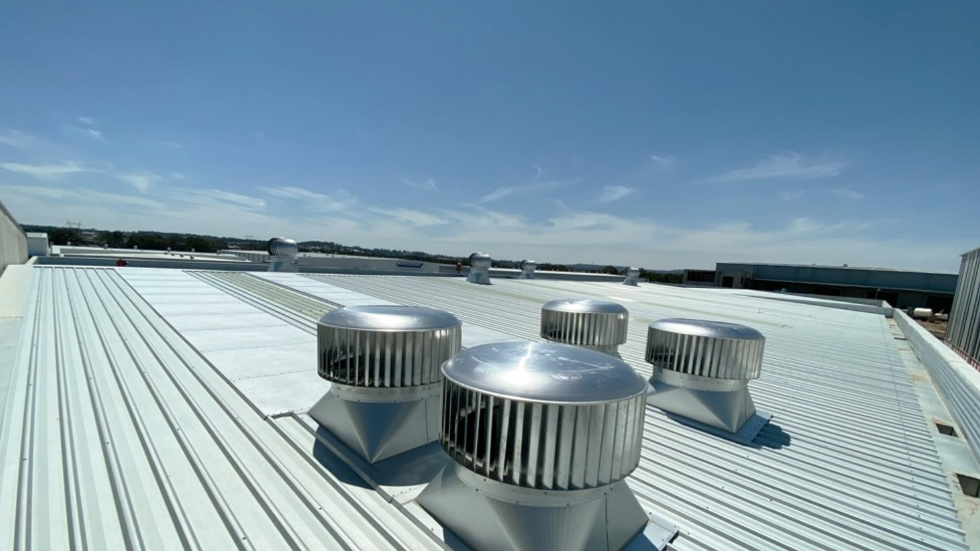 Large Commercial Roof Vents Installed for Chillex Sydney
